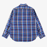 #3201 1102 Shirt LP2 / linen plaid blue