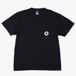 #3003 Donut pocket Tee 2 / cotton jersey navy x white