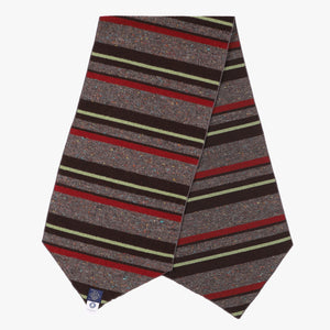 E-Z Scarf / trashed wool stripe red