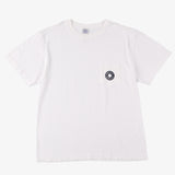 #3003 Donut pocket Tee 1 / cotton jersey white x navy