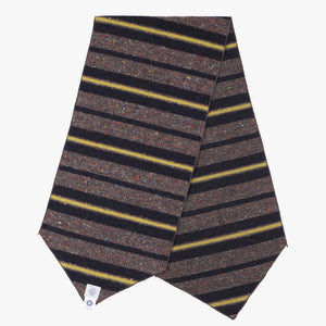 E-Z Scarf / trashed wool stripe yellow