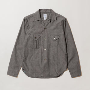#2214 E-Z cruz Shirt SF2 / solid flannel lt grey heather