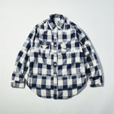 #1256 Cruzer Shirt 2 IB / ikat block check navy/white