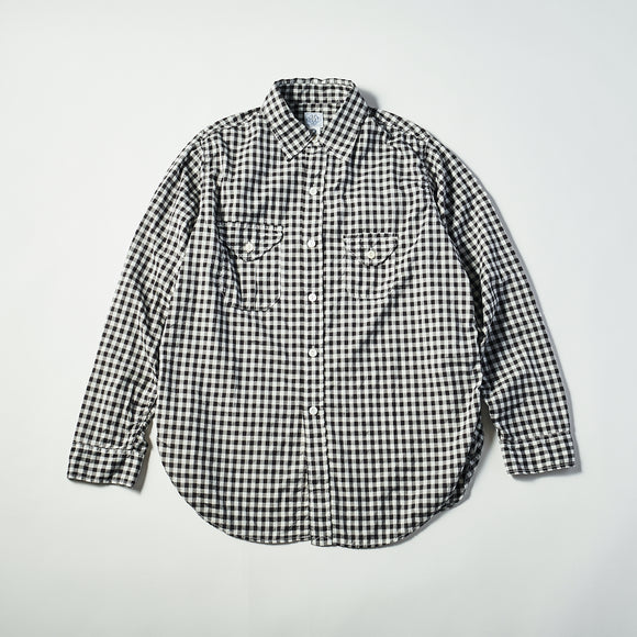 #1256 Cruzer Shirt 2 CB / cotton block check black/white