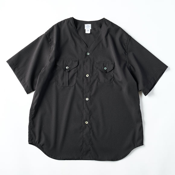 #2219S C-POST DV2 S/S PS1 / poly mesh seersucker charcoal
