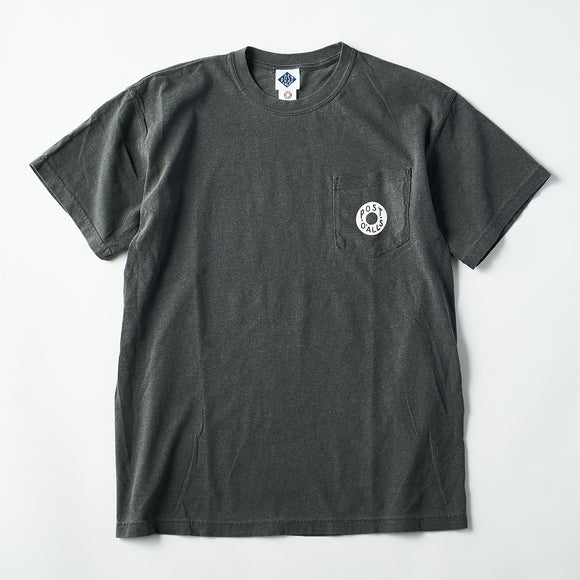#3005 ESS pocket tee B2 / pigment dyed cotton jersey charcoal x white