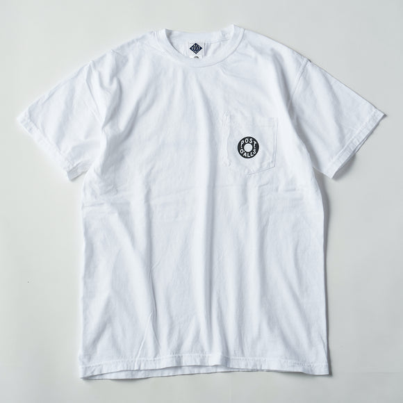 #3005 ESS pocket tee B1 / pigment dyed cotton jersey white x grey