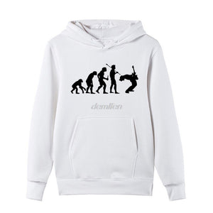 Evolution Rock Music Funny Hoodie