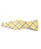 Green & Yellow Plaid Bow Tie - Mosaic Menswear - 3