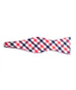 Blue & Pink Plaid Bow Tie - Mosaic Menswear - 3