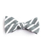 Green Large Striped Bow Tie - Mosaic Menswear - 2