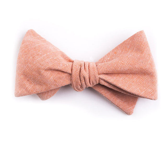 Solid Salmon Bow Tie