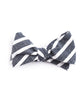Navy Large Striped Bow Tie - Mosaic Menswear - 2