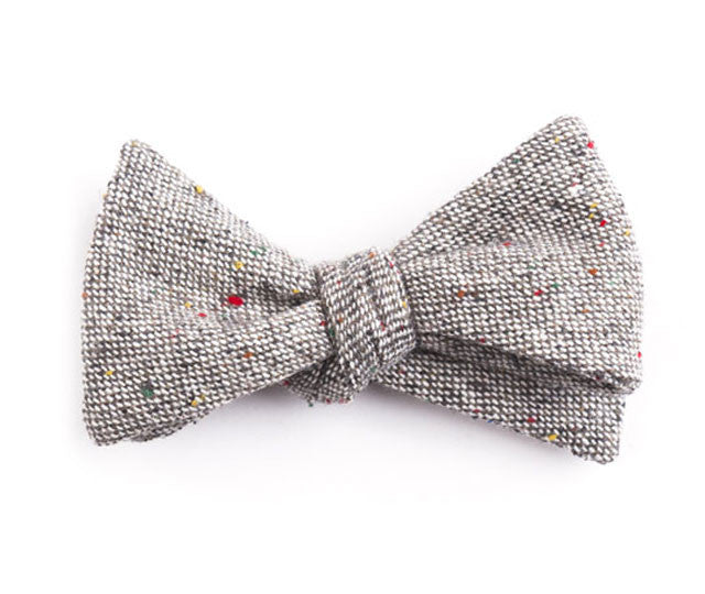 Solid Gray Bow Tie
