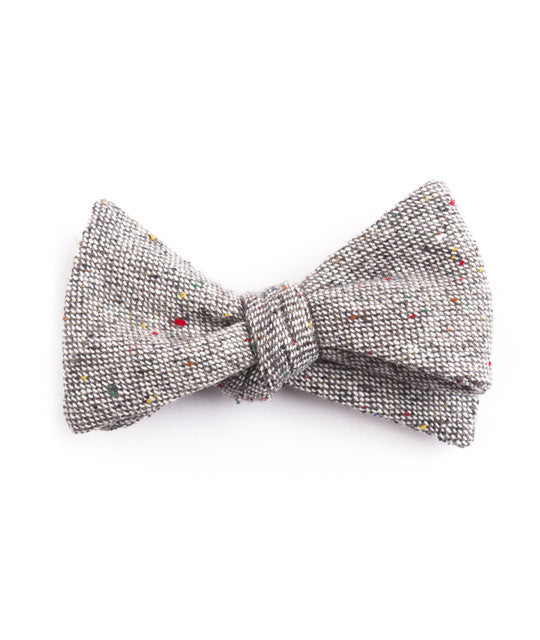 Solid Gray Bow Tie - Mosaic Menswear - 2