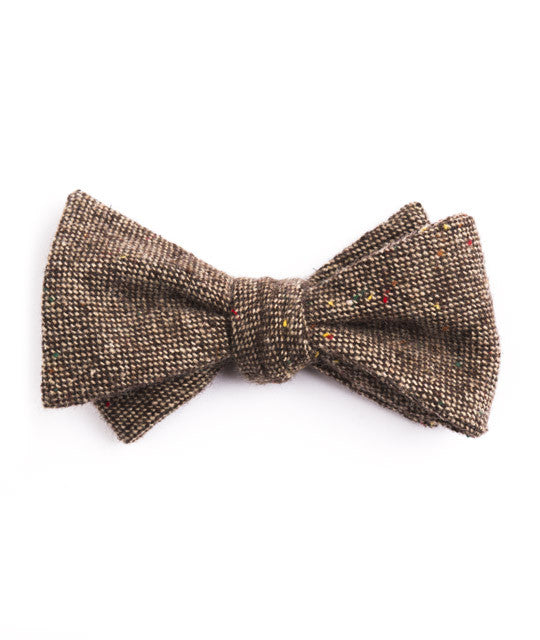 Solid Brown Bow Tie - Mosaic Menswear - 2