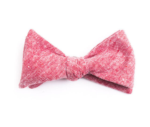 Solid Red Bow Tie