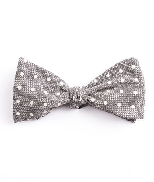 Gray Dot Bow Tie - Mosaic Menswear - 2