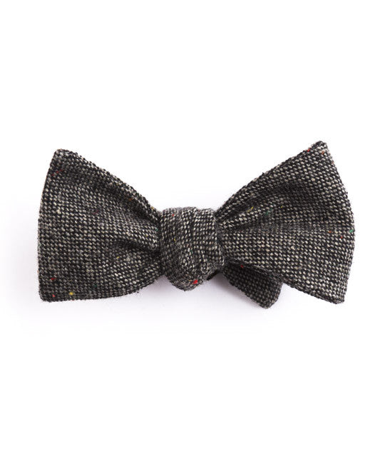 Solid Charcoal Bow Tie - Mosaic Menswear - 2