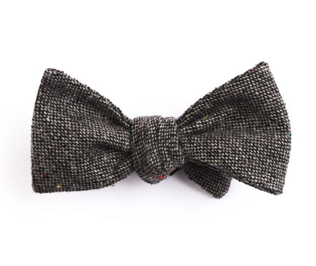 Solid Charcoal Bow Tie