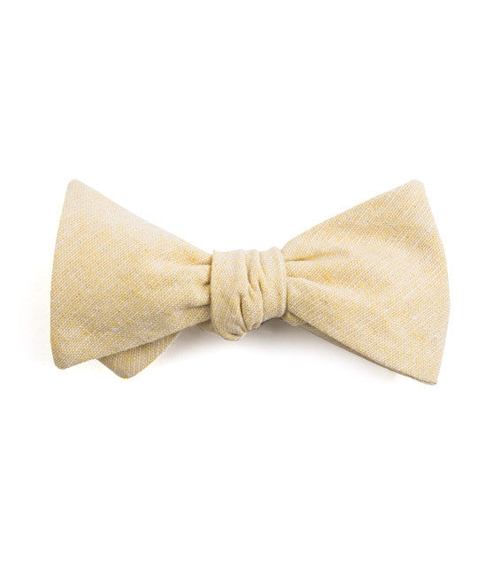 Solid Yellow Bow Tie - Mosaic Menswear - 2