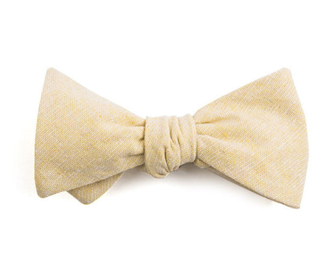 Solid Yellow Bow Tie