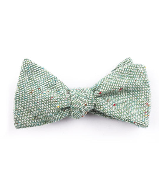 Solid Mint Bow Tie - Mosaic Menswear - 2