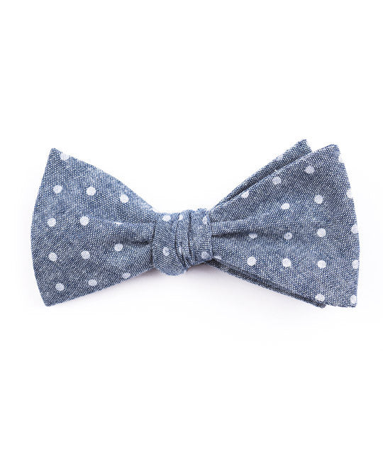 Navy Dot Bow Tie - Mosaic Menswear - 2