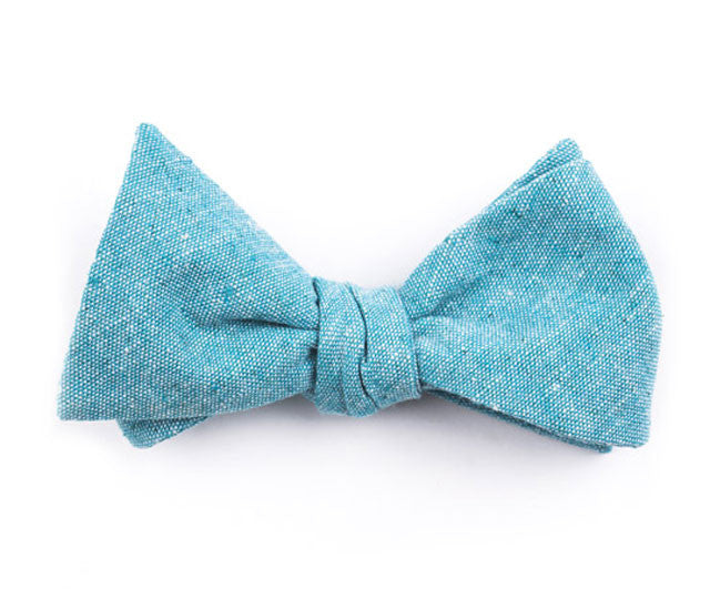 Solid Turquoise Bow Tie