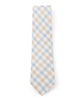 Light Blue & Brown Plaid Necktie - Mosaic Menswear - 3