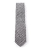 Black Small Striped Necktie - Mosaic Menswear - 3