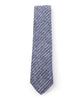 Navy Small Striped Necktie - Mosaic Menswear - 3