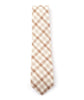Brown & Beige Plaid Necktie - Mosaic Menswear - 3