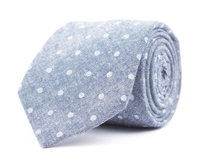 Navy Dot Necktie