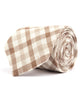 Brown & Beige Plaid Necktie - Mosaic Menswear - 2