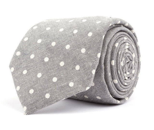 Gray Dot Necktie