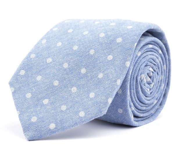 Blue Dot Necktie