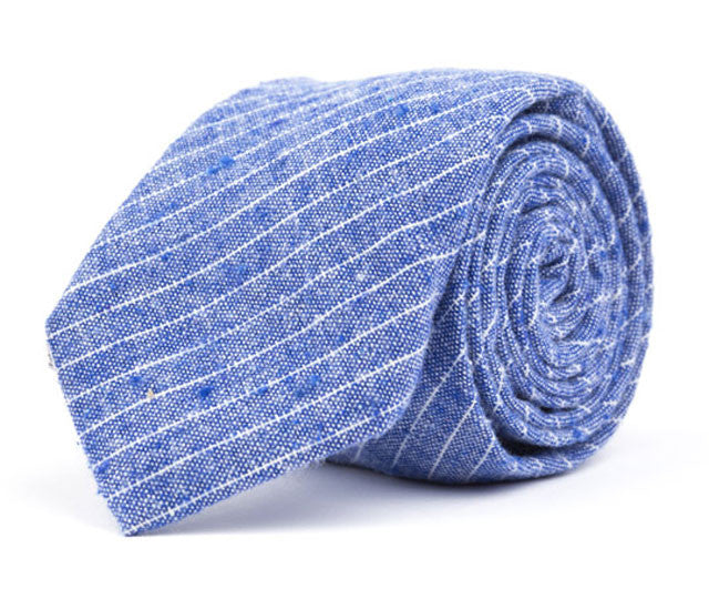 Blue Small Striped Necktie