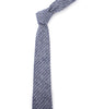 Navy Small Striped Necktie - Mosaic Menswear - 4