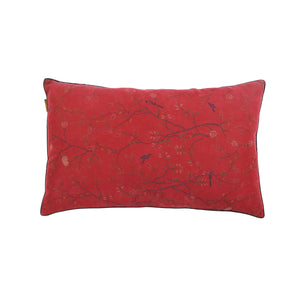 Little Button | Cushion Bird Flower~Red