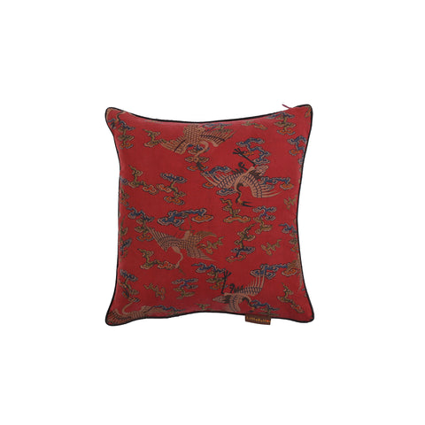 Little Button | Cushion Crane~Red