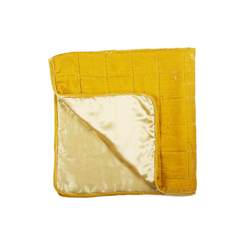 Little Button | Silk And Velvet Blanket~Yellow