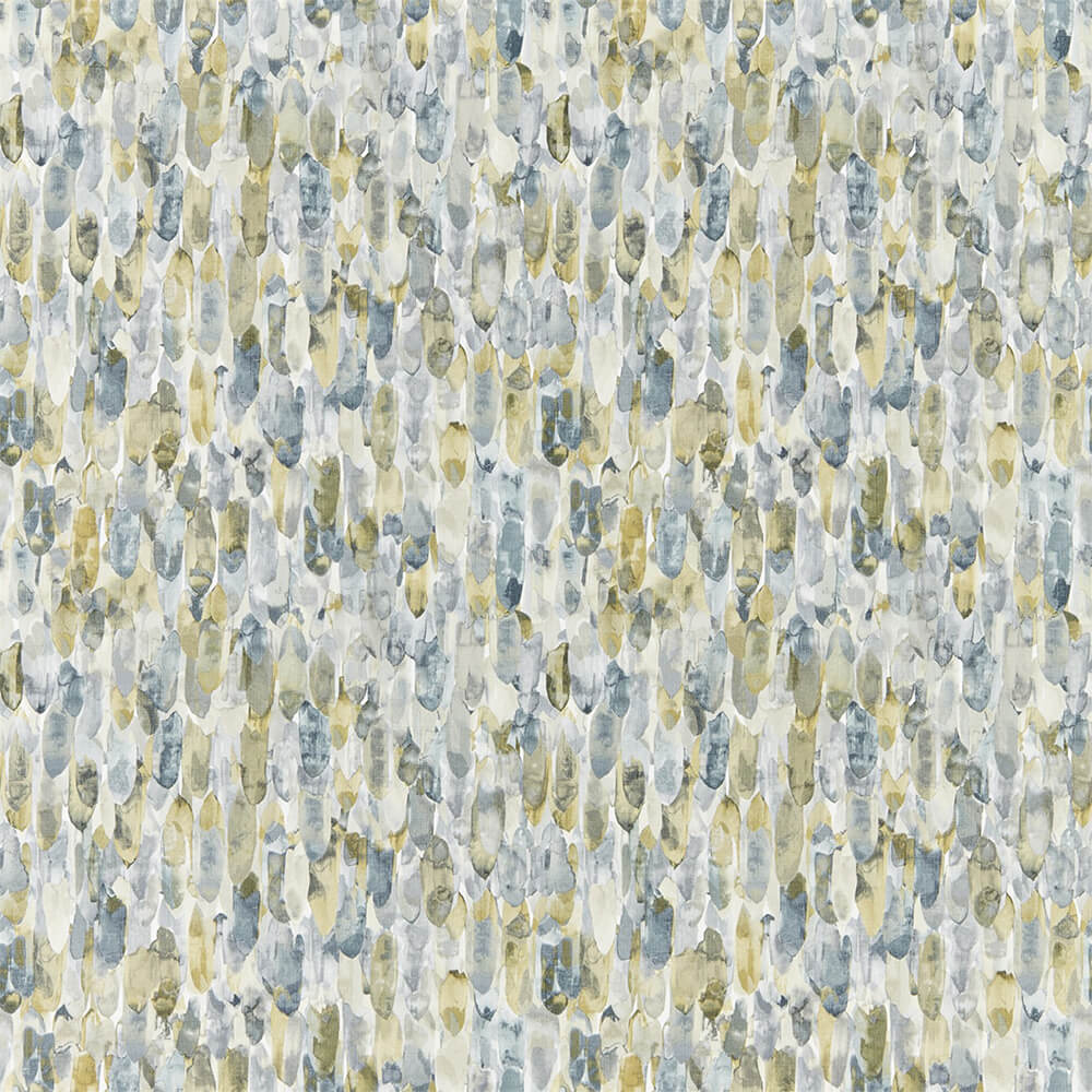 Kelambu Graphite Mustard Wallpaper, Harlequin, Anthozoa, Wall to Wall Wallpaper | Contemporary Wallpaper Online NZ