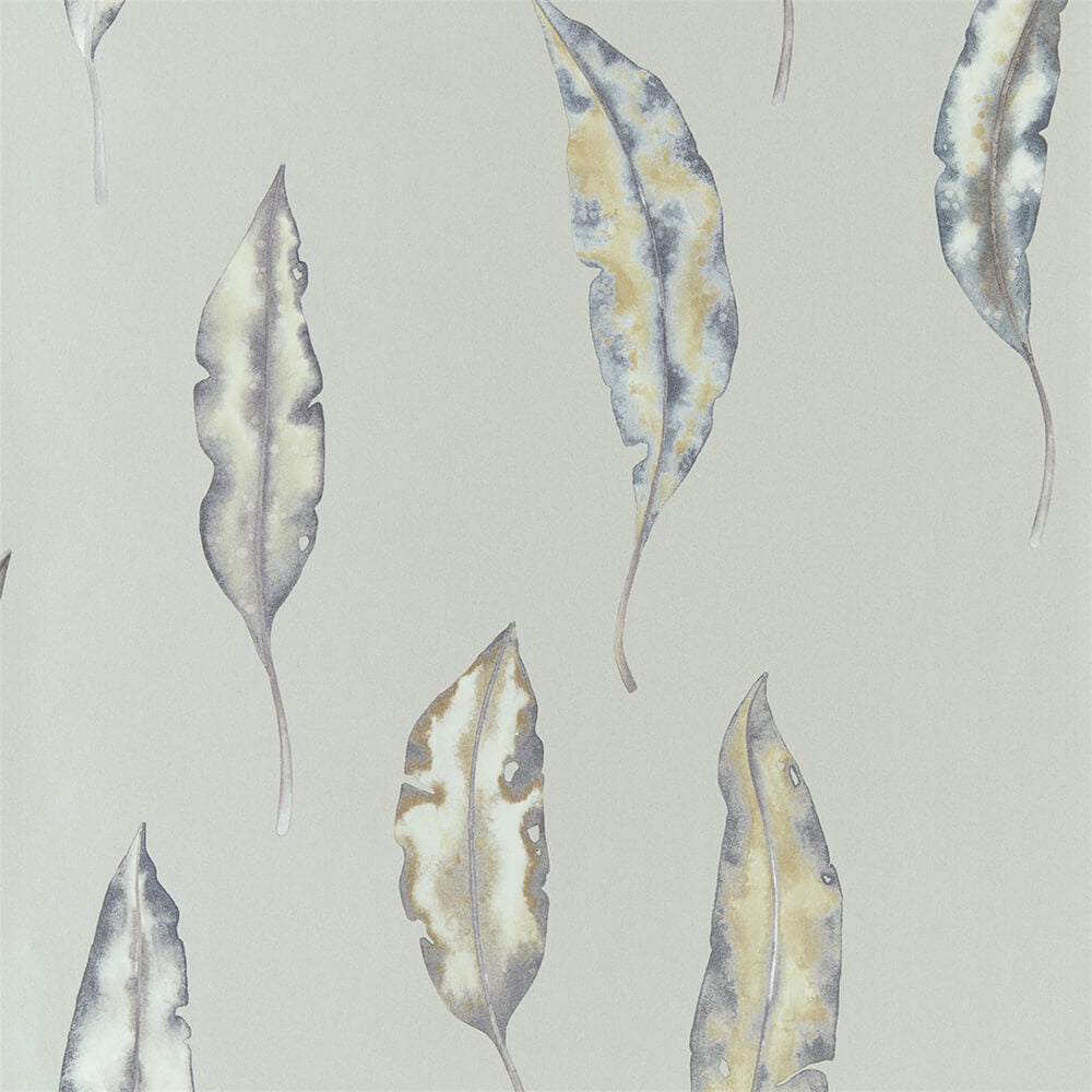 Kinina Graphite Mustard Wallpaper, Harlequin, Anthozoa, Wall to Wall Wallpaper | Contemporary Wallpaper Online NZ