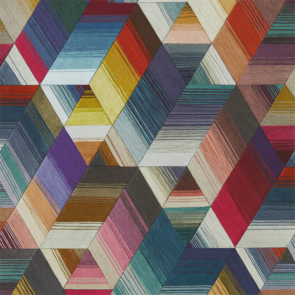 Arccos Cerise Neptune Teal Wallpaper, Harlequin, Momentum 5, Wall to Wall Wallpaper | Contemporary Wallpaper Online NZ