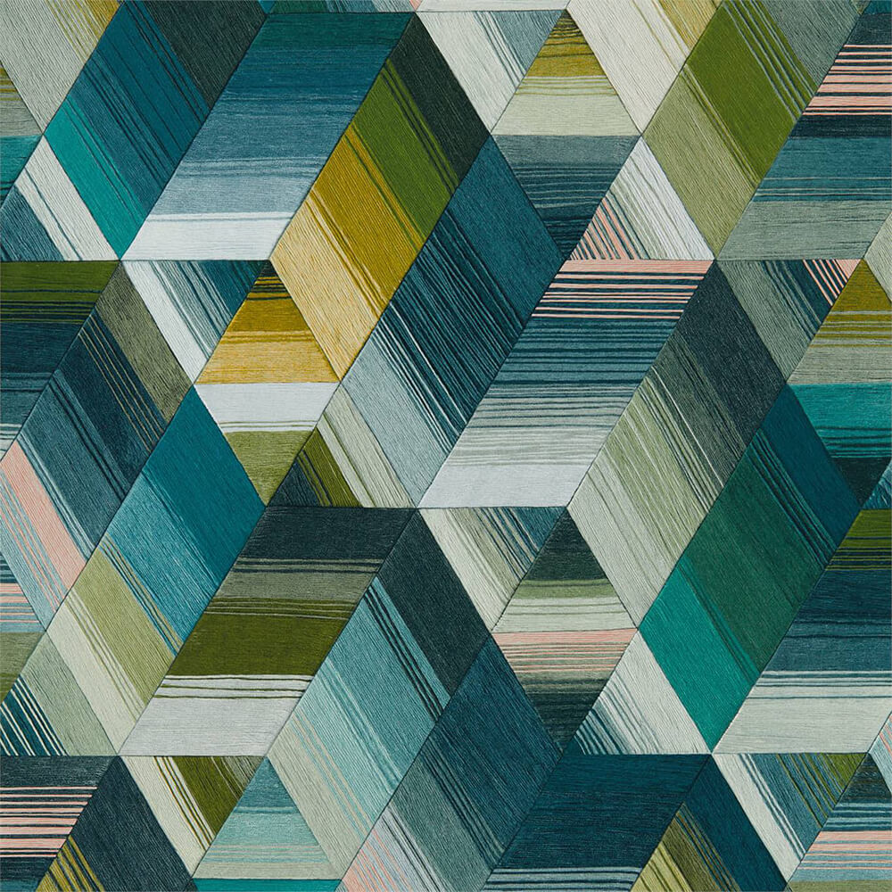 Arccos Emerald Blush Wallpaper, Harlequin, Momentum 5, Wall to Wall Wallpaper | Contemporary Wallpaper Online NZ