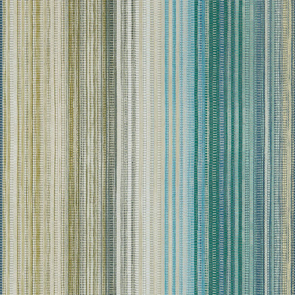 Spectro Stripe Emerald Marine Wallpaper, Harlequin, Momentum 5, Wall to Wall Wallpaper | Contemporary Wallpaper Online NZ