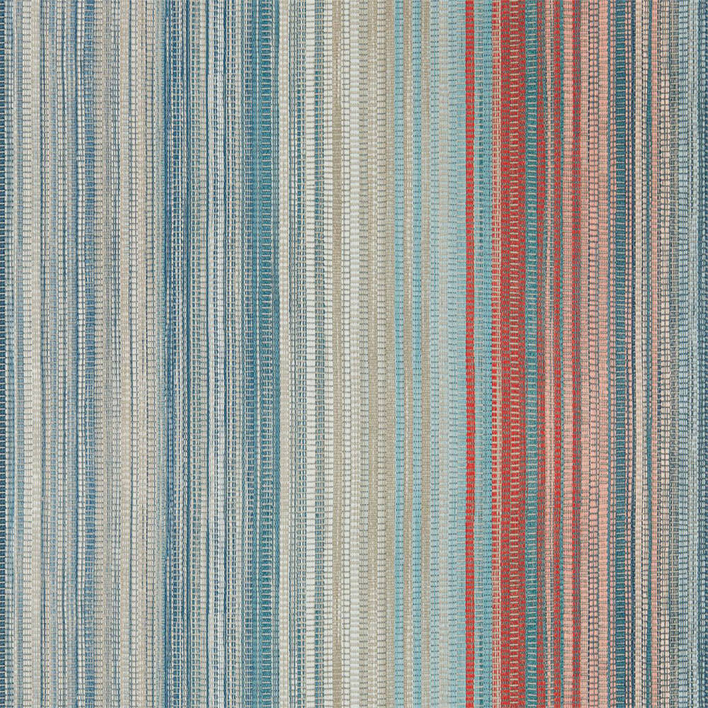 Spectro Stripe Teal Sedona Rust Wallpaper, Harlequin, Momentum 5, Wall to Wall Wallpaper | Contemporary Wallpaper Online NZ