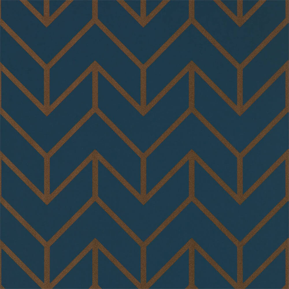 Tessellation Marine Copper Wallpaper, Harlequin, Momentum 5, Wall to Wall Wallpaper | Contemporary Wallpaper Online NZ