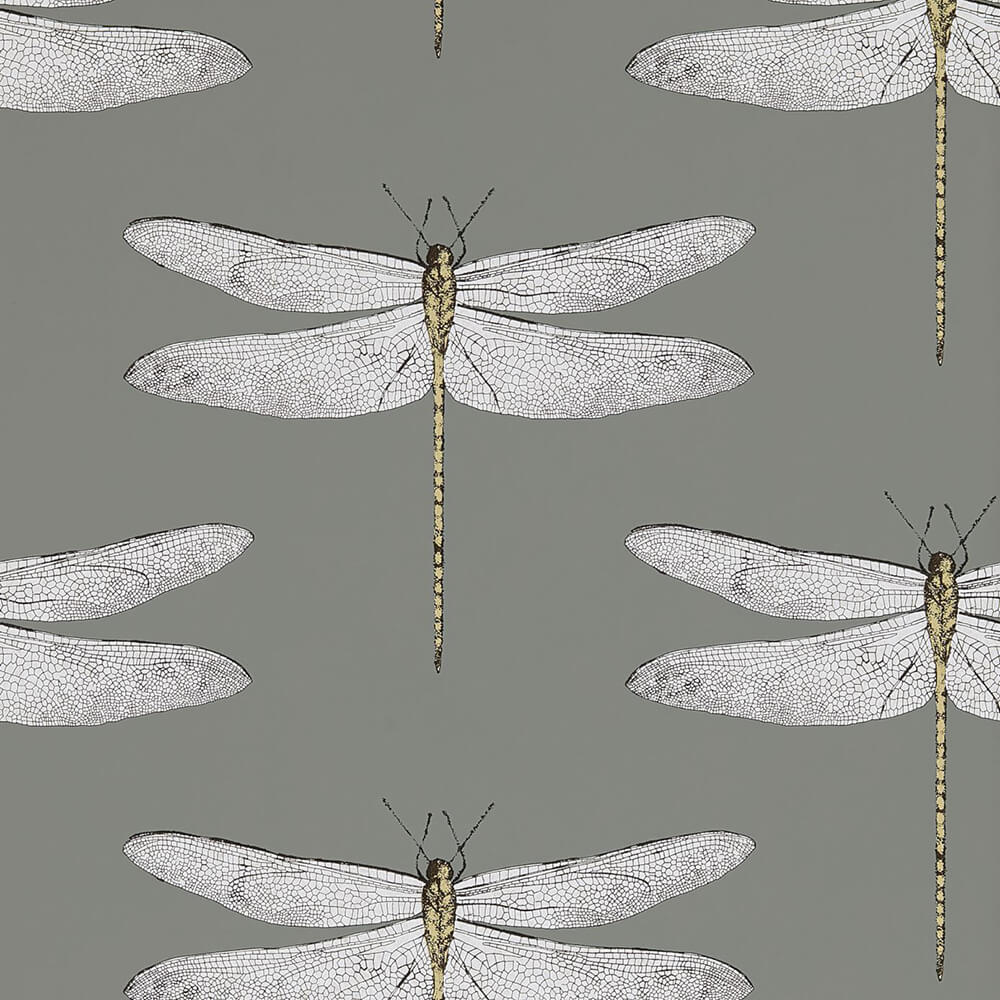Demoiselle Graphite Almond Wallpaper, Harlequin, Palmetto, Wall to Wall Wallpaper | Contemporary Wallpaper Online NZ